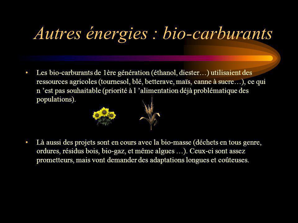 Autres énergies : bio-carburants
