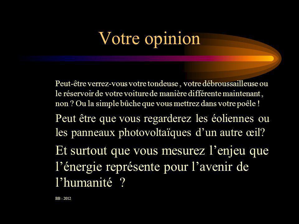 Votre opinion