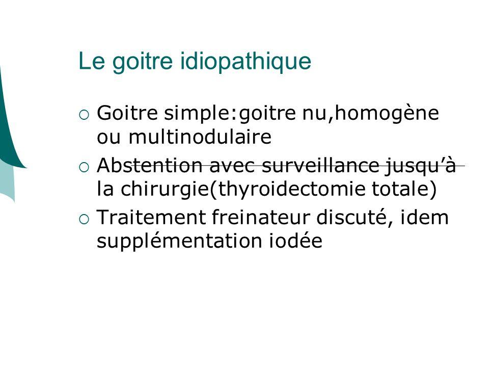 Le goitre idiopathique