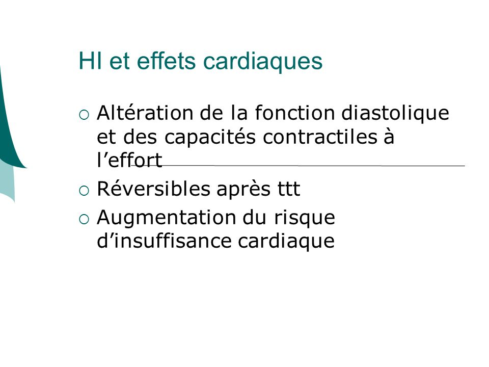 HI et effets cardiaques