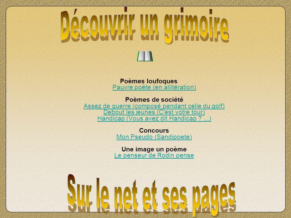 Découvrir un grimoire Sur le net et ses pages