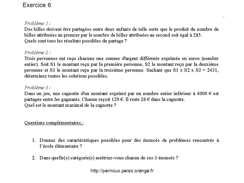 Exercice 6 http://pernoux.perso.orange.fr