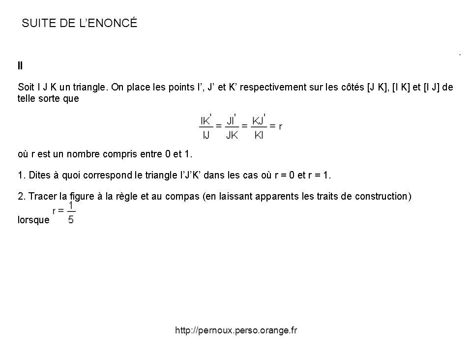 SUITE DE L'ENONCÉ http://pernoux.perso.orange.fr