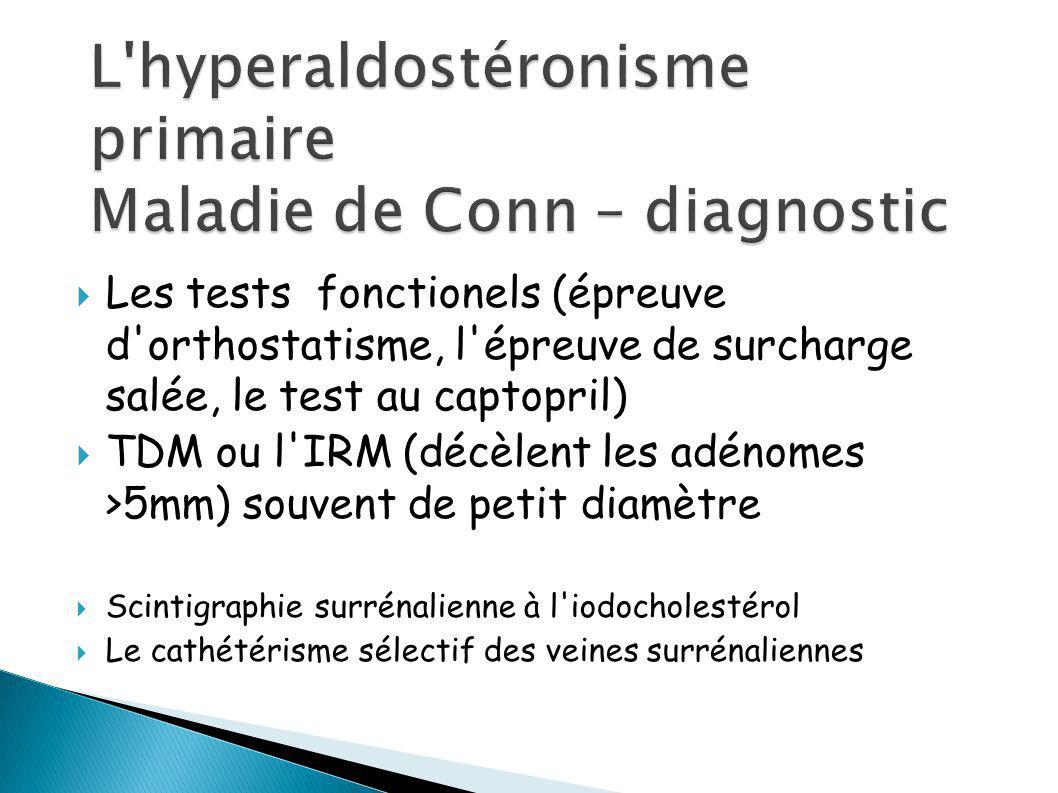 L hyperaldostéronisme primaire Maladie de Conn – diagnostic