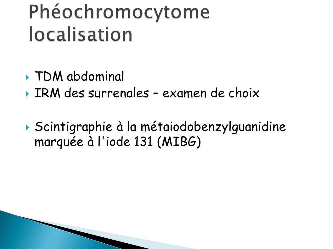 Phéochromocytome localisation