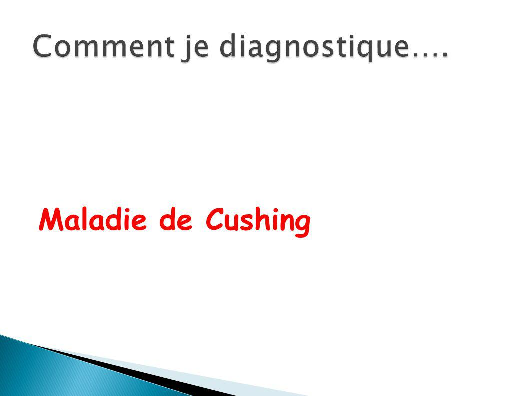 Comment je diagnostique….