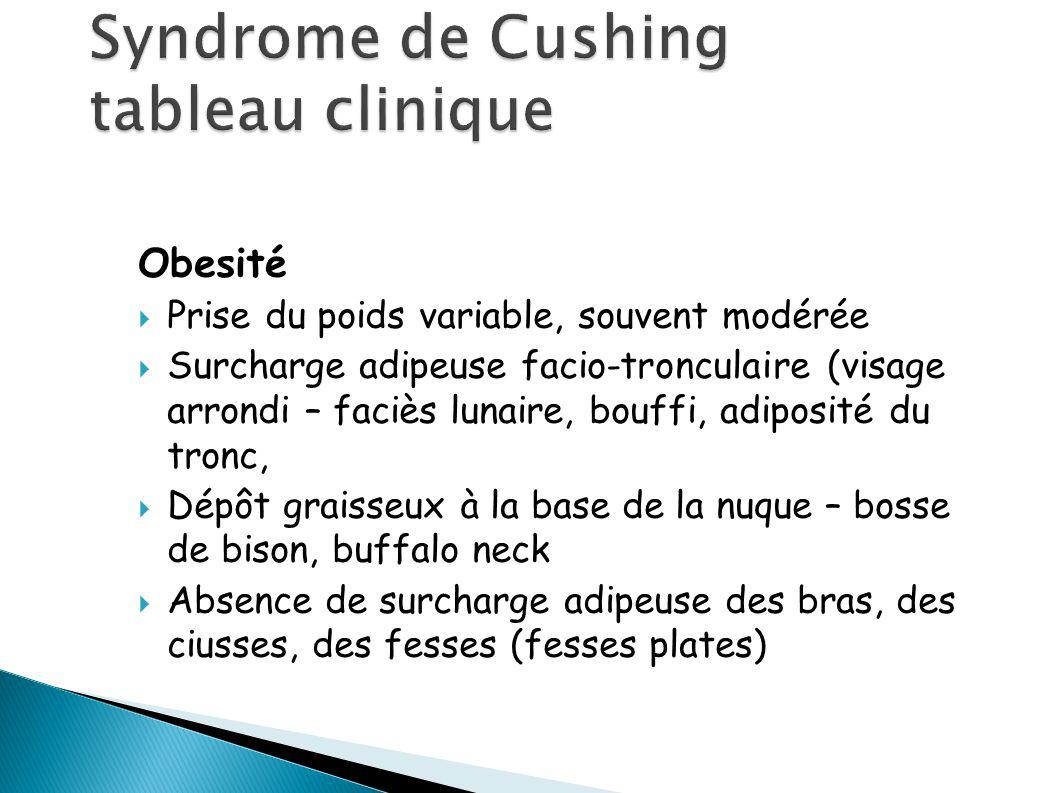 Syndrome de Cushing tableau clinique