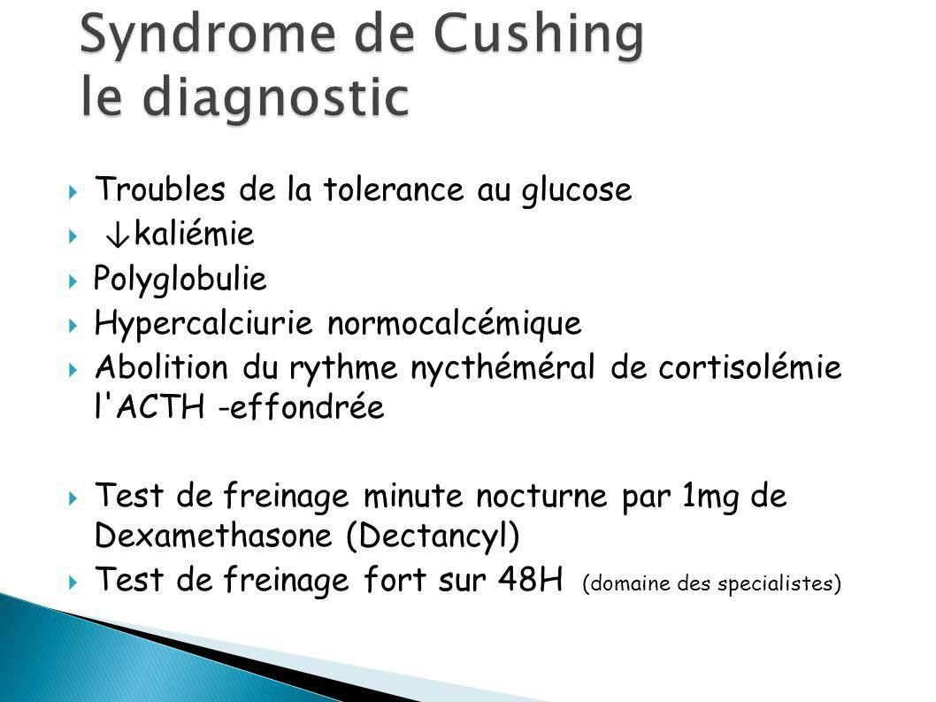 Syndrome de Cushing le diagnostic