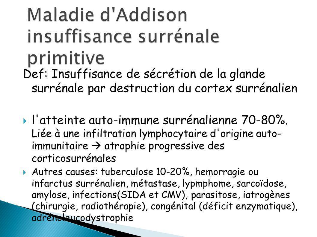 Maladie d Addison insuffisance surrénale primitive