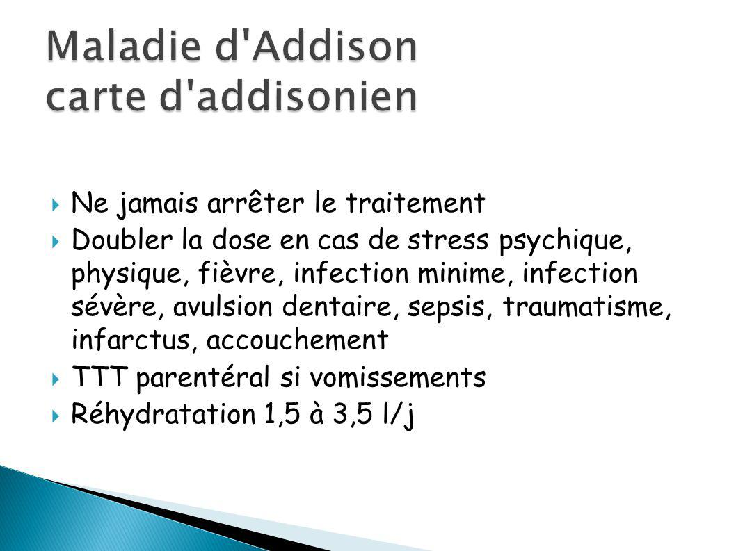 Maladie d Addison carte d addisonien