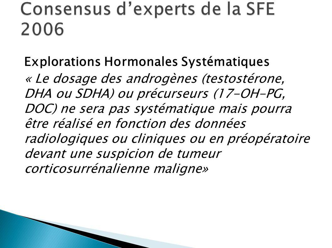 Consensus d'experts de la SFE 2006