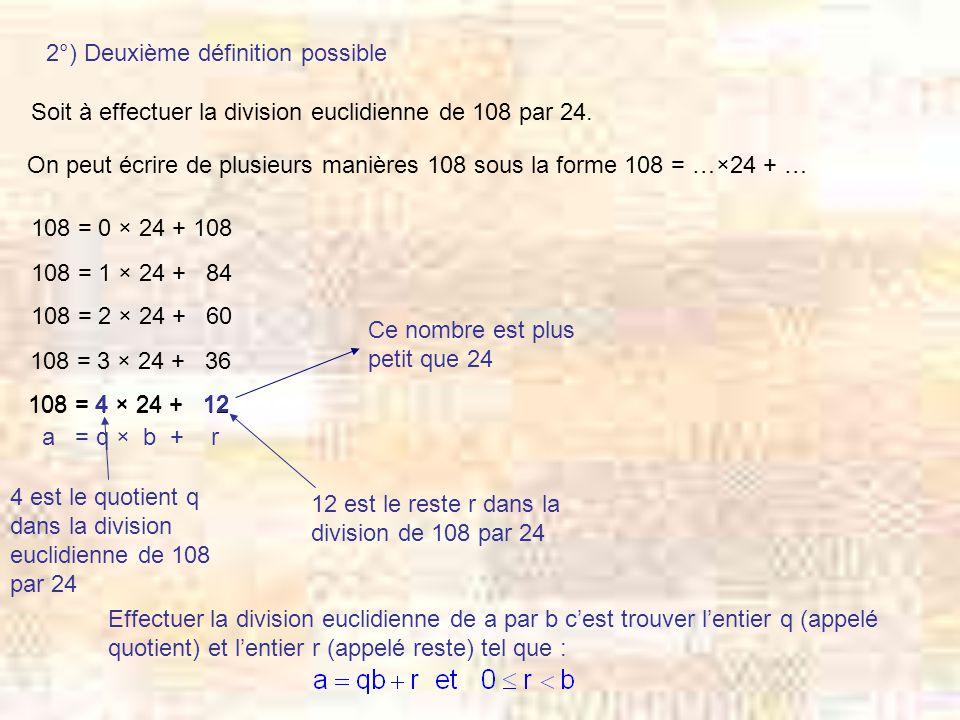 2°) Deuxième définition possible