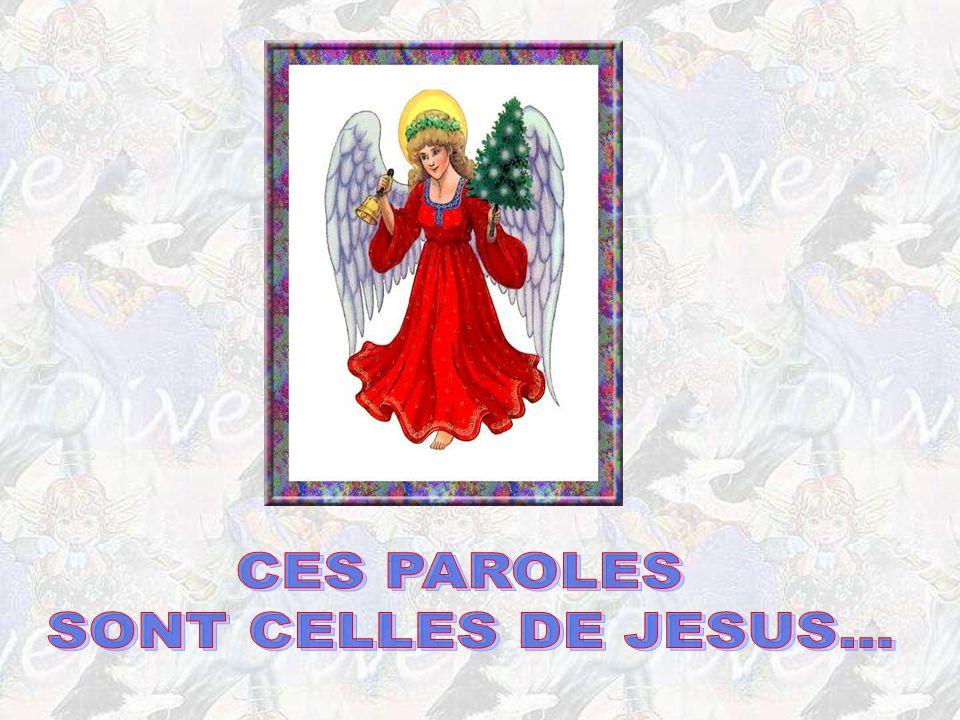 CES PAROLES SONT CELLES DE JESUS...