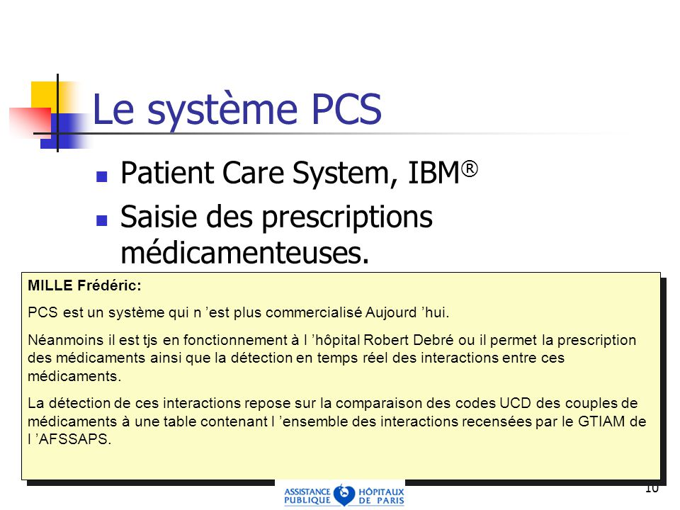Le système PCS Patient Care System, IBM®