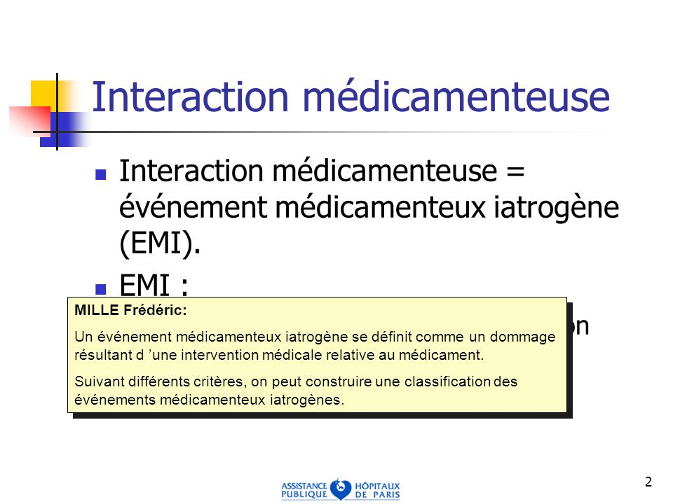 Interaction médicamenteuse
