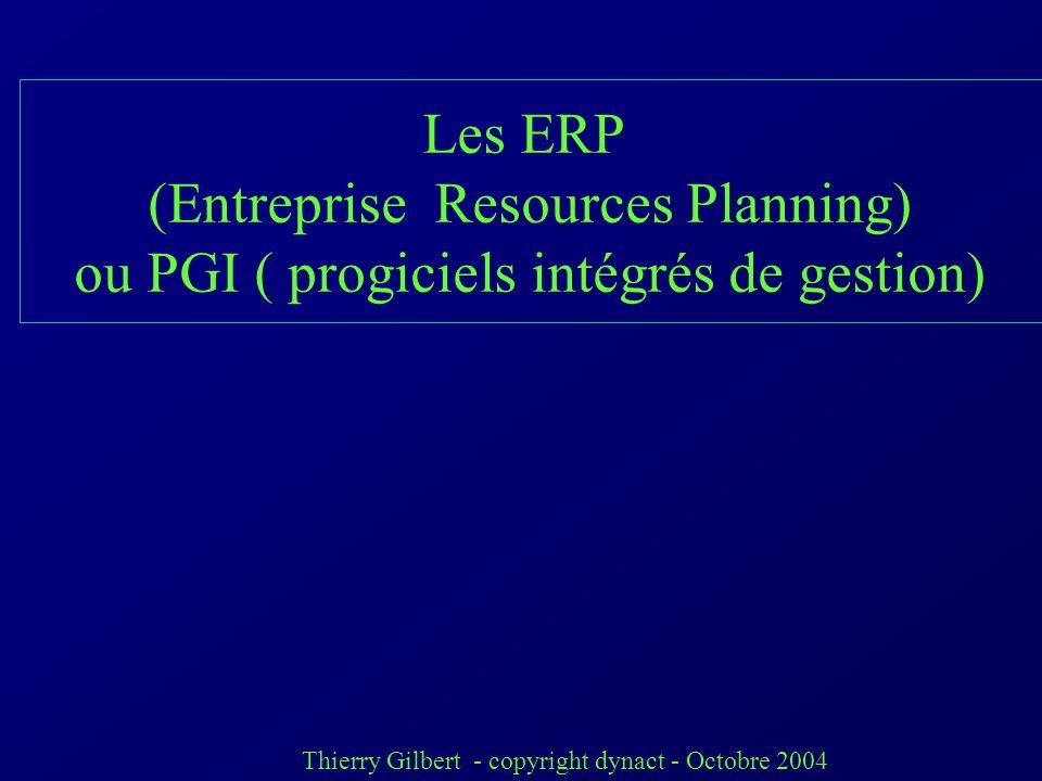 (Entreprise Resources Planning)