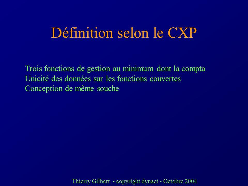 Définition selon le CXP