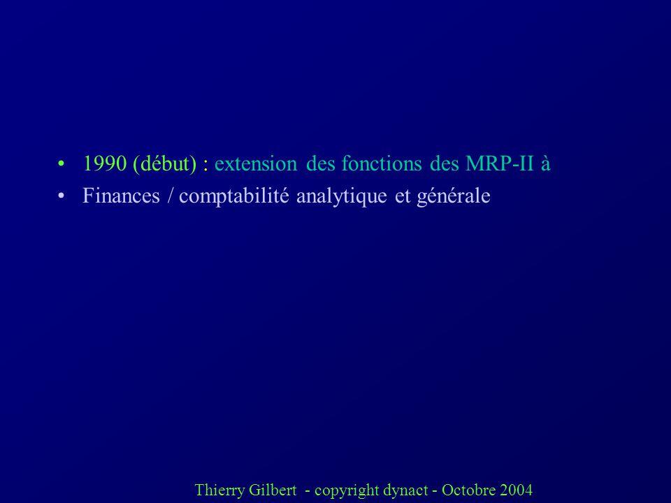 1990 (début) : extension des fonctions des MRP-II à