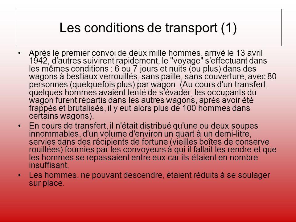 Les conditions de transport (1)