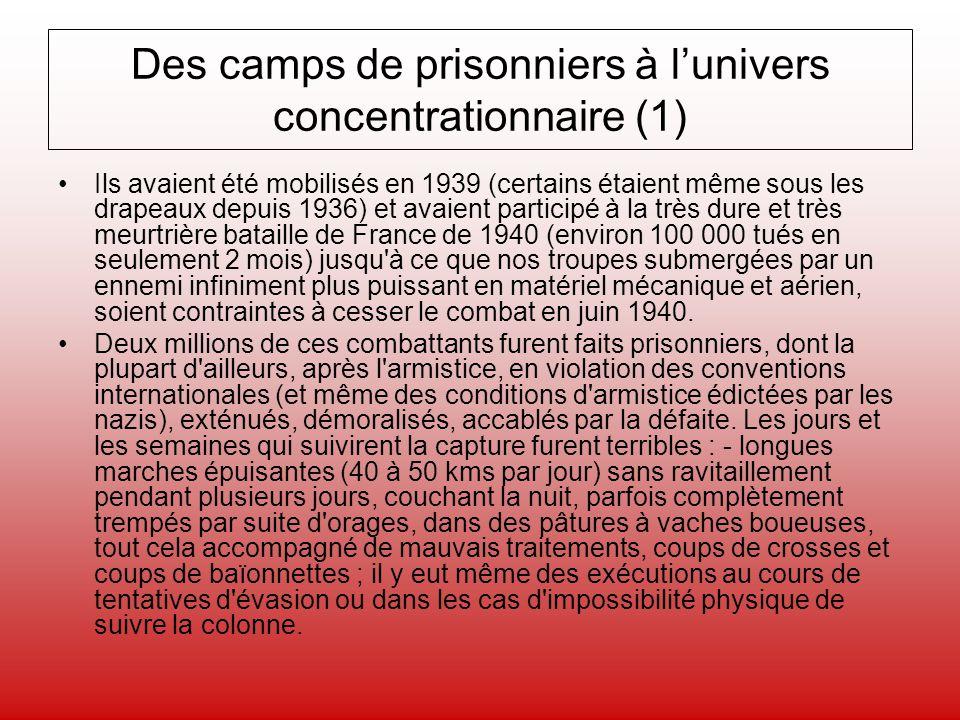 Des camps de prisonniers à l'univers concentrationnaire (1)