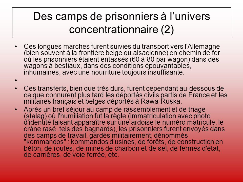 Des camps de prisonniers à l'univers concentrationnaire (2)