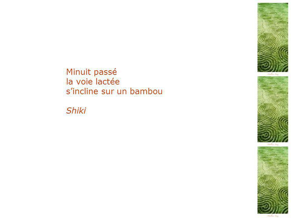 Minuit passé la voie lactée s'incline sur un bambou Shiki