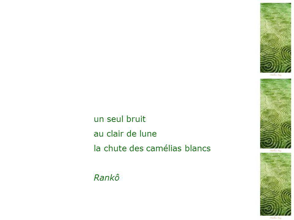 un seul bruit au clair de lune la chute des camélias blancs Rankô