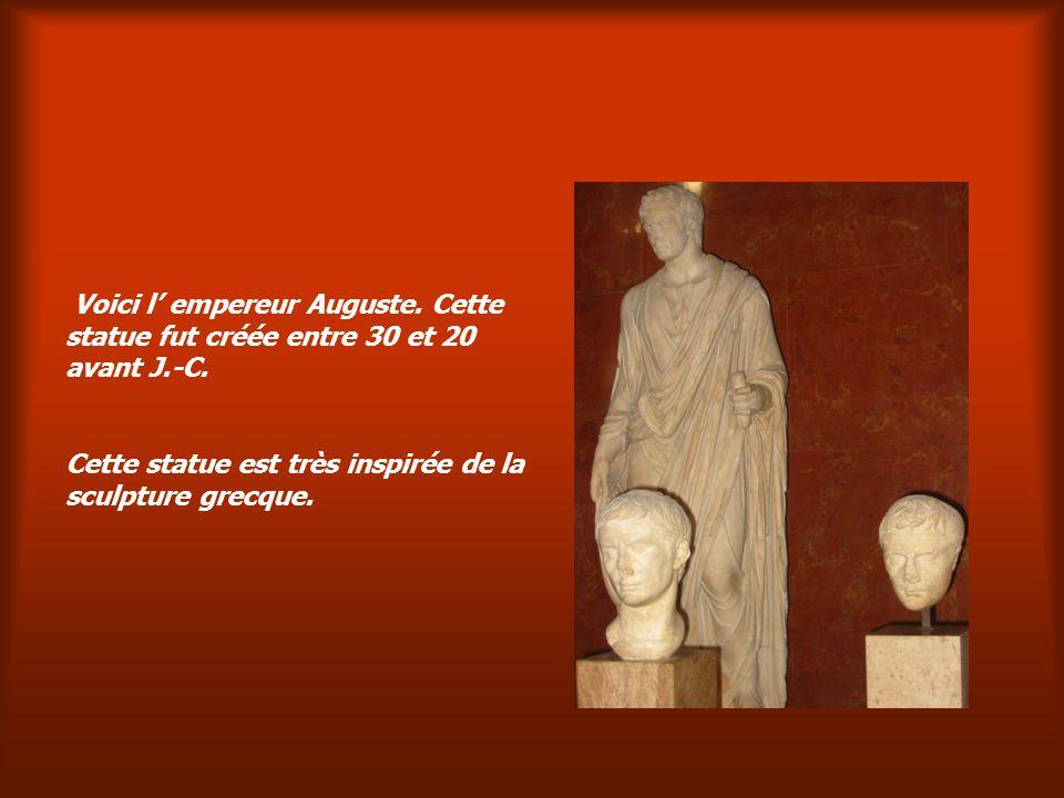 Voici l' empereur Auguste