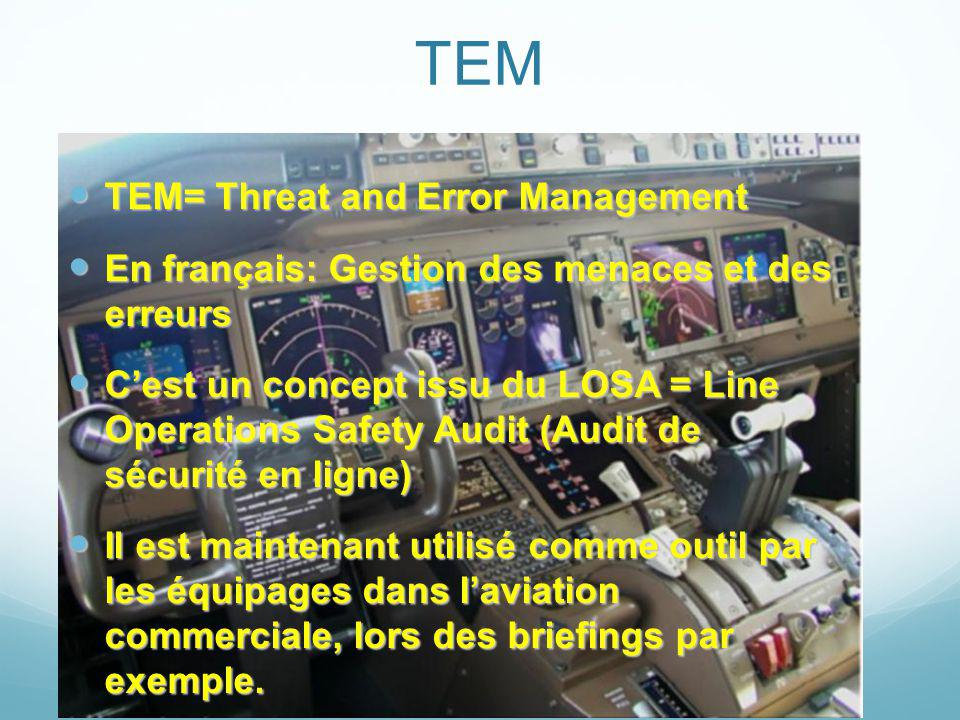 TEM TEM= Threat and Error Management