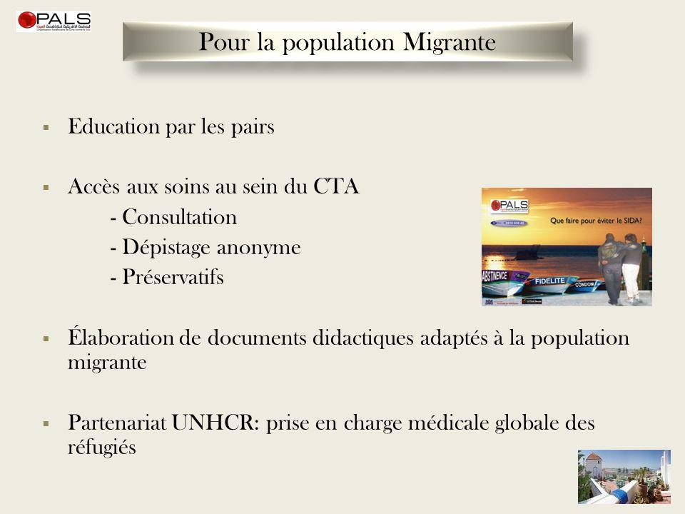 Pour la population Migrante
