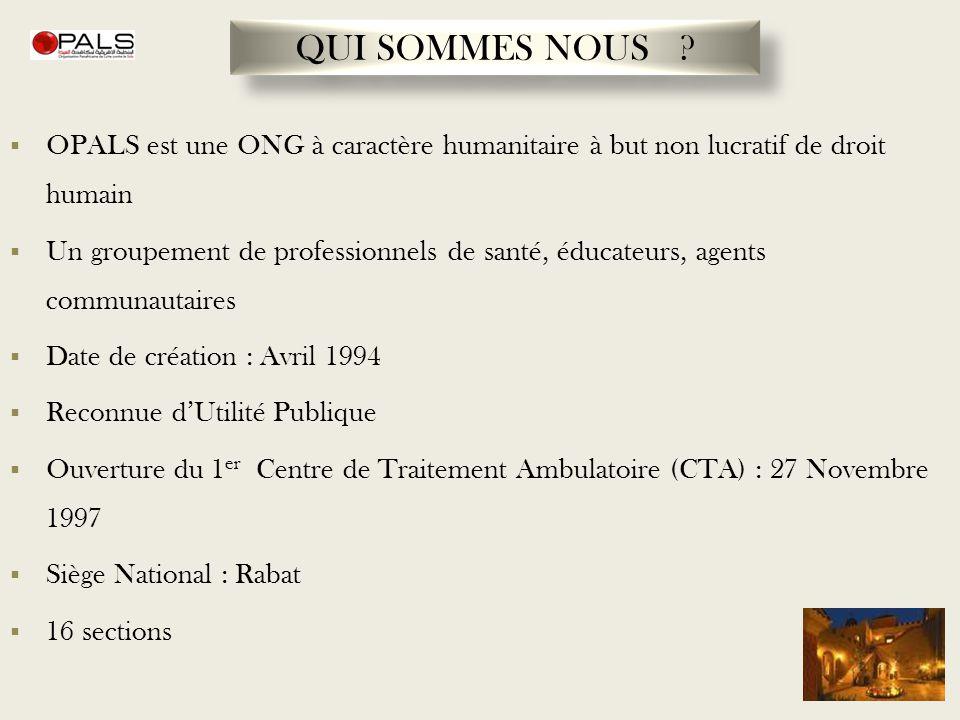 QUI SOMMES NOUS OPALS est une ONG à caractère humanitaire à but non lucratif de droit humain.
