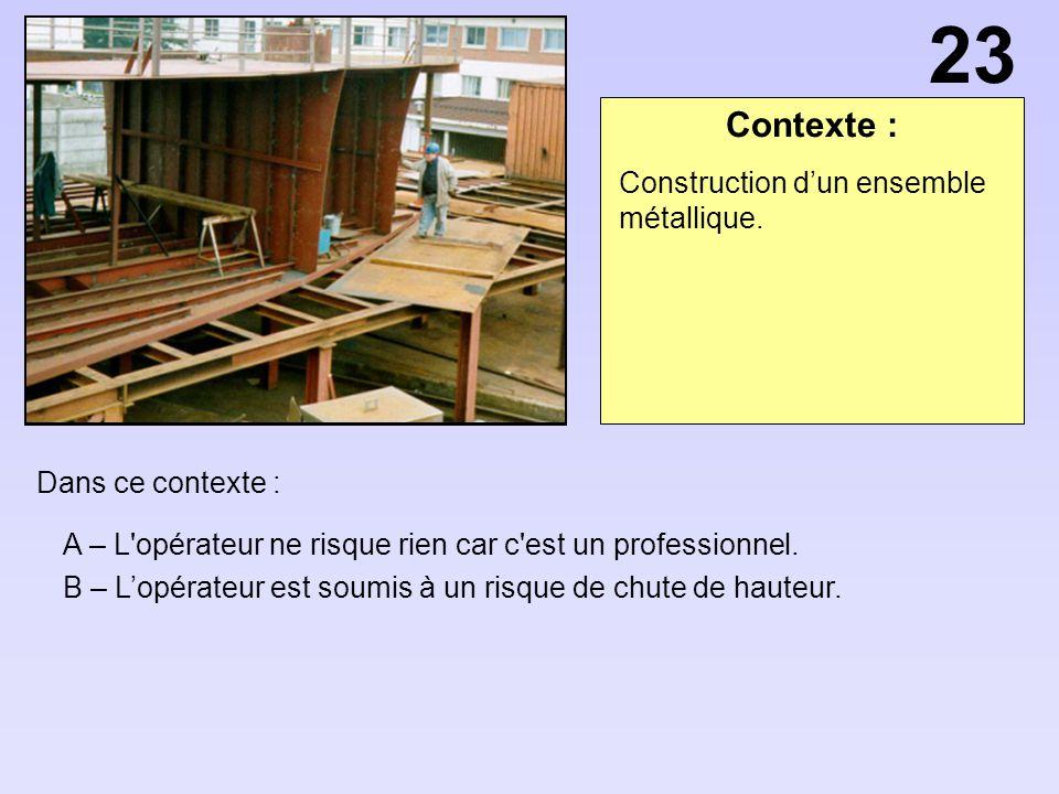 23 Contexte : Construction d'un ensemble métallique.