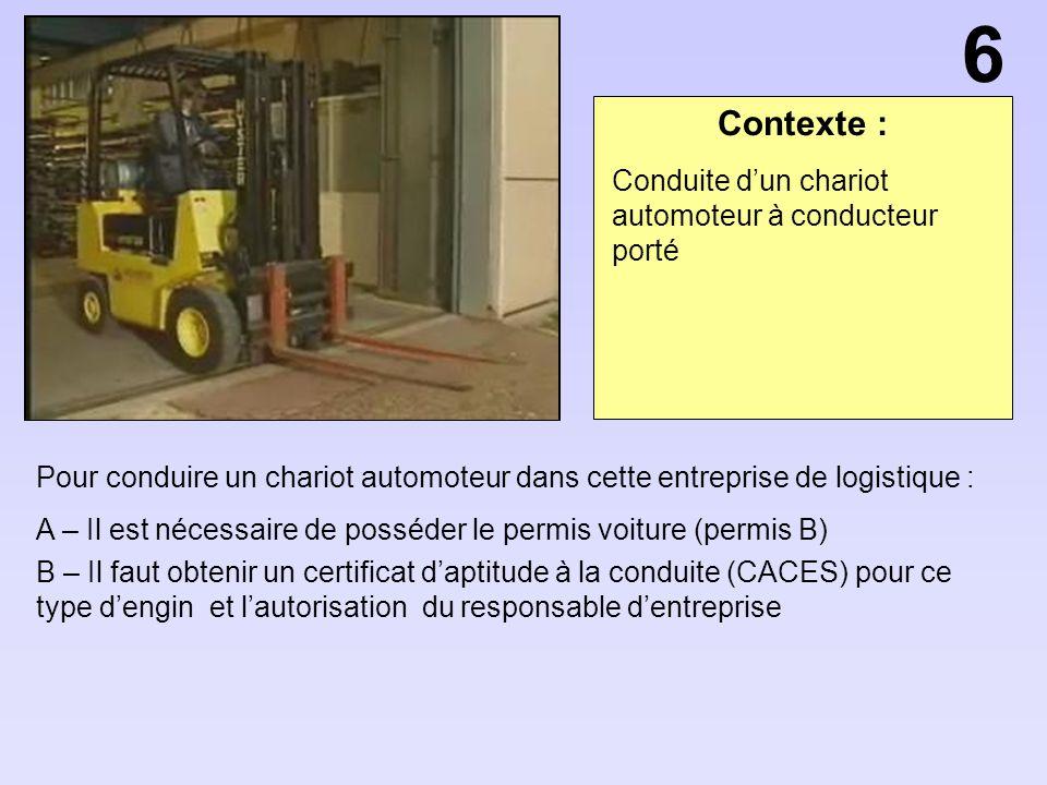 Olympiades sant s curit ppt video online t l charger - Chariot automoteur a conducteur porte ...