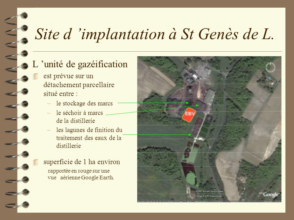 Site d 'implantation à St Genès de L.