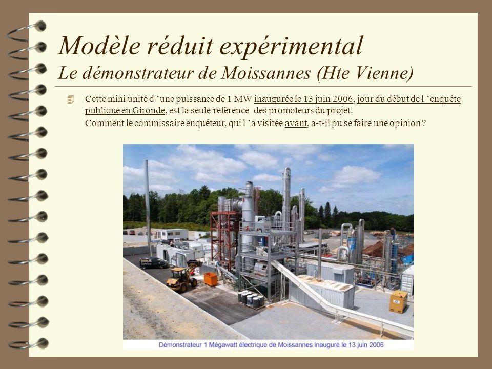 Modèle réduit expérimental Le démonstrateur de Moissannes (Hte Vienne)