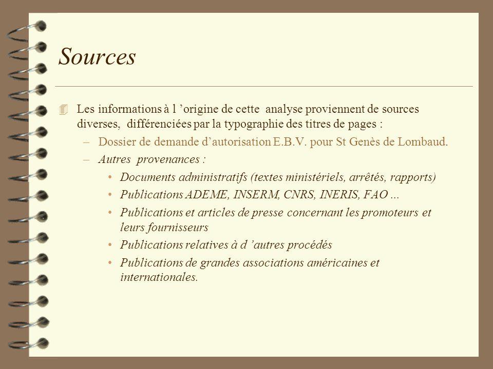 Sources Les informations à l 'origine de cette analyse proviennent de sources diverses, différenciées par la typographie des titres de pages :
