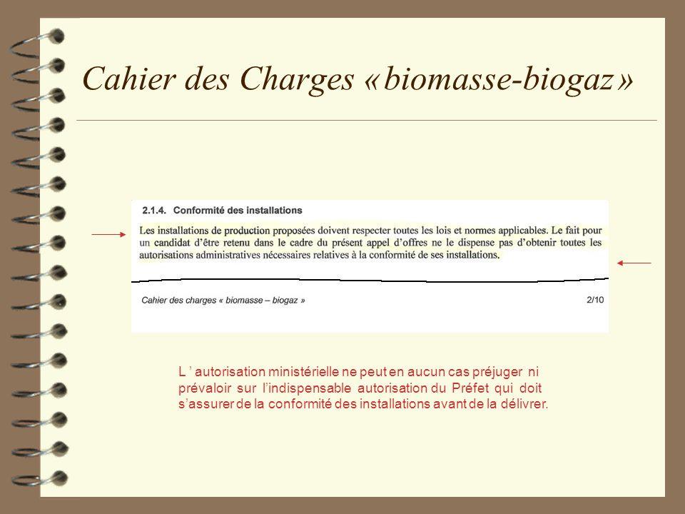 Cahier des Charges « biomasse-biogaz »