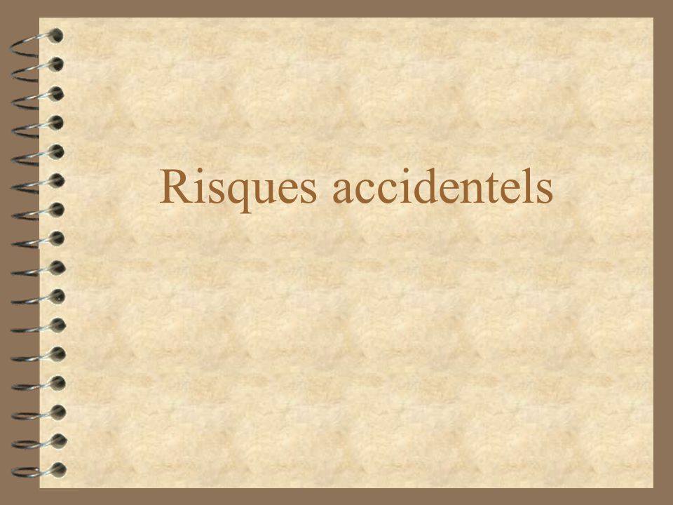 Risques accidentels