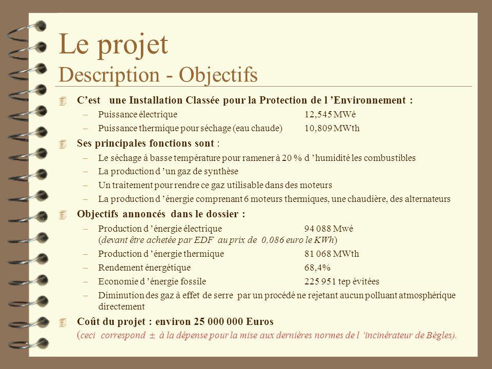 Le projet Description - Objectifs