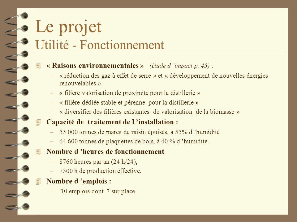 Le projet Utilité - Fonctionnement