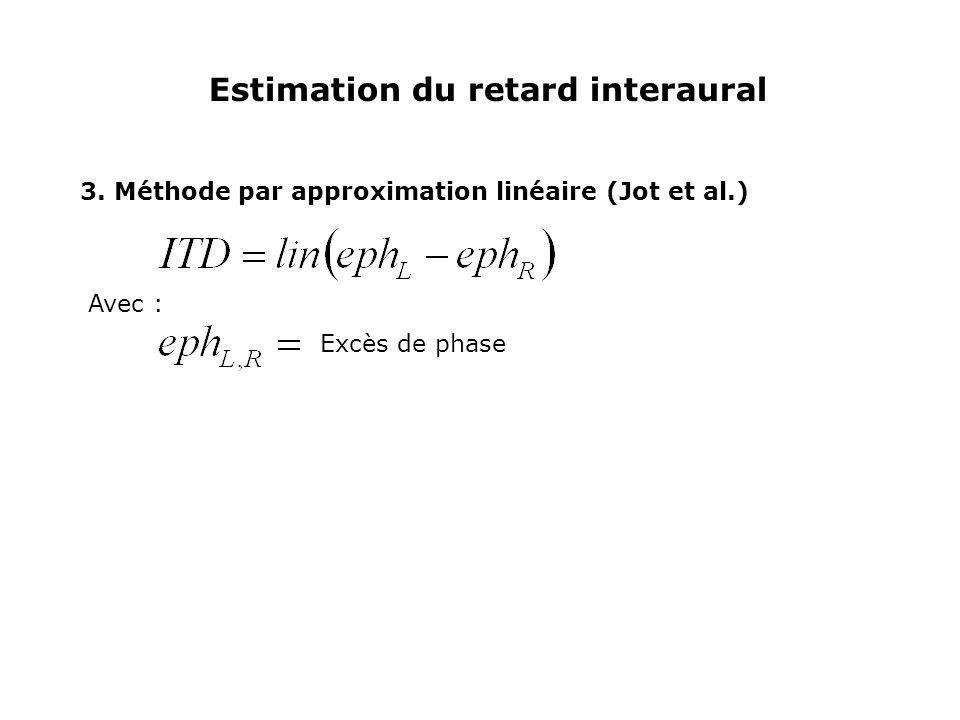 Estimation du retard interaural