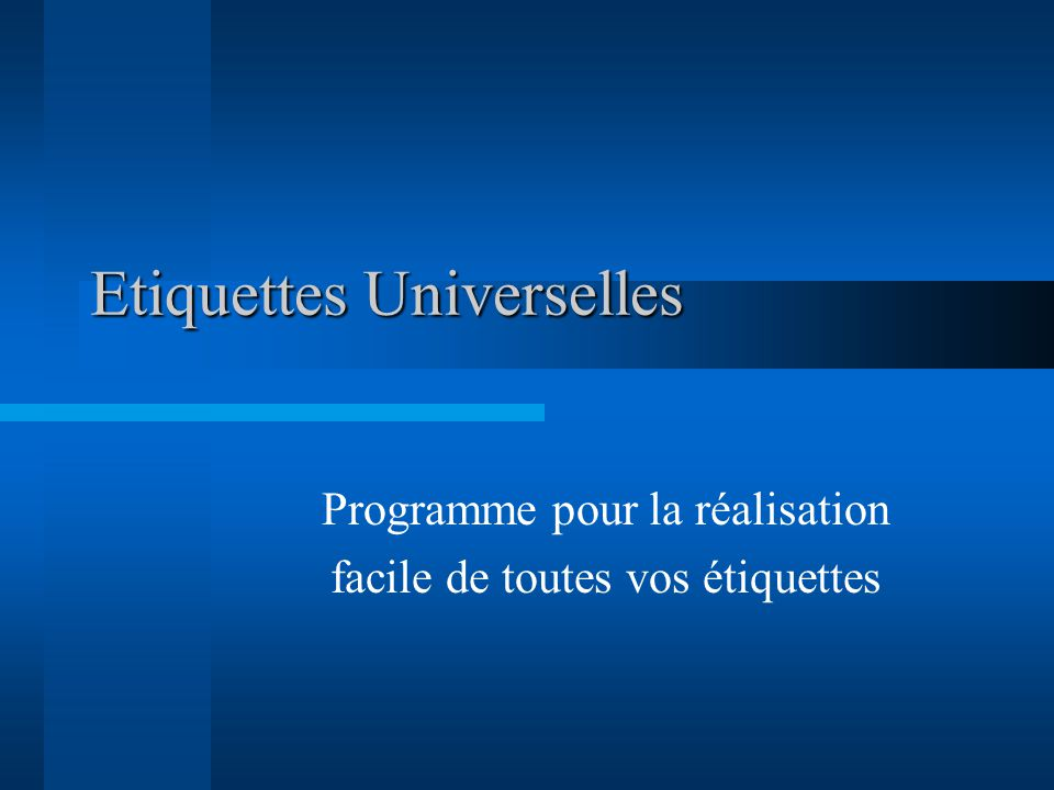 Etiquettes Universelles