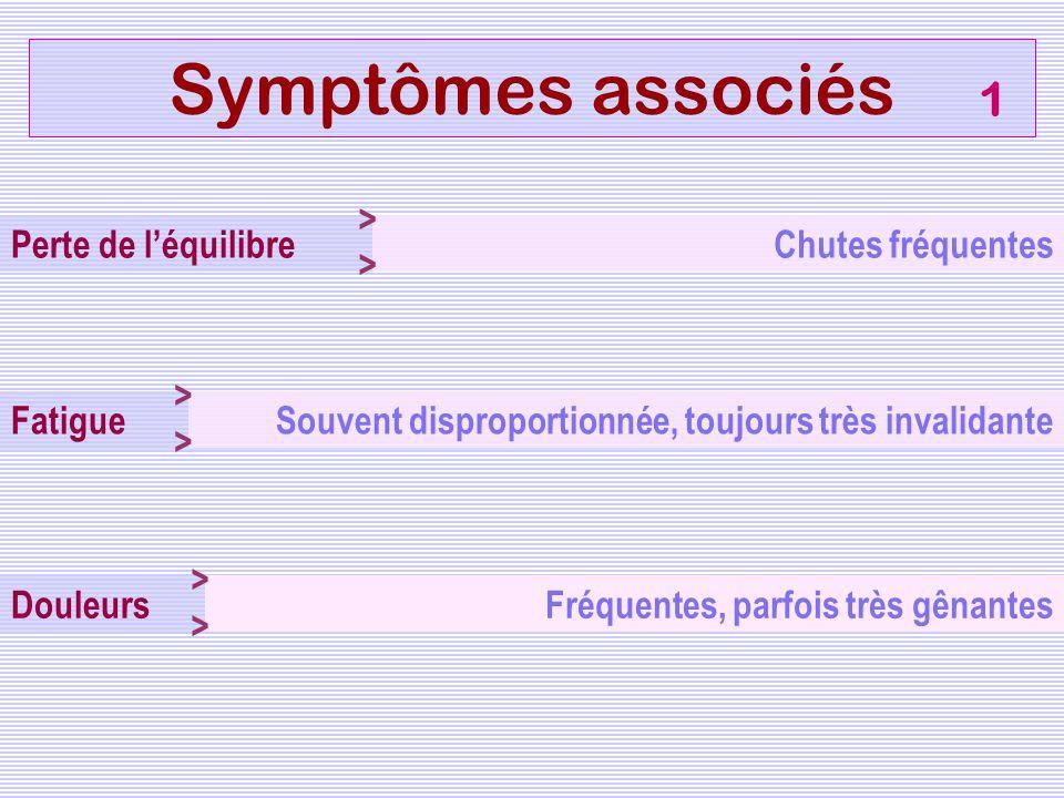 Symptômes associés 1 >> Perte de l'équilibre Chutes fréquentes