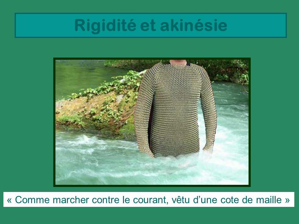 Rigidité et akinésie « Comme marcher contre le courant, vêtu d'une cote de maille »