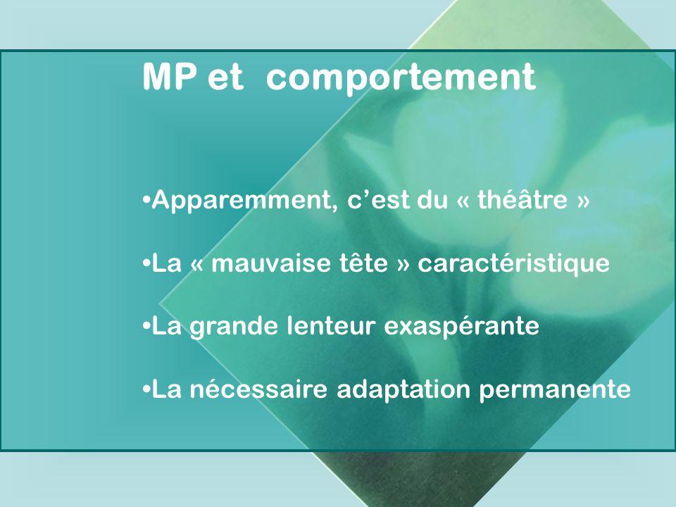 MP et comportement Apparemment, c'est du « théâtre »