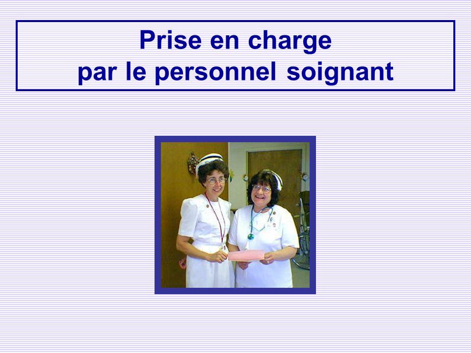 par le personnel soignant