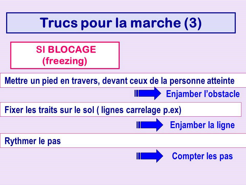 Trucs pour la marche (3) SI BLOCAGE (freezing)