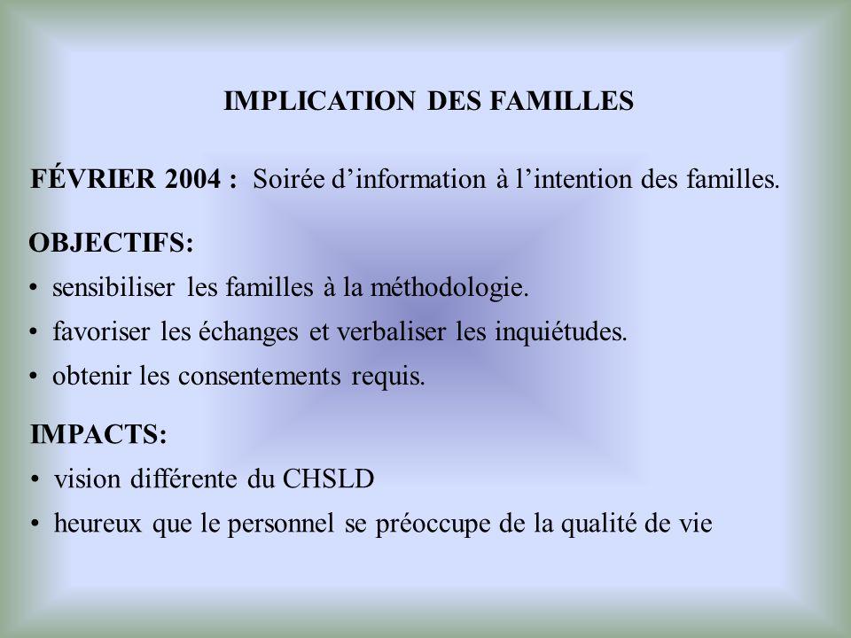 IMPLICATION DES FAMILLES