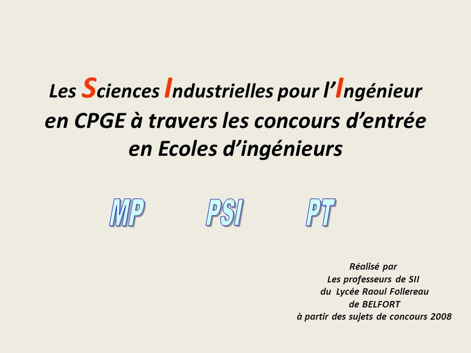 en CPGE à travers les concours d'entrée en Ecoles d'ingénieurs