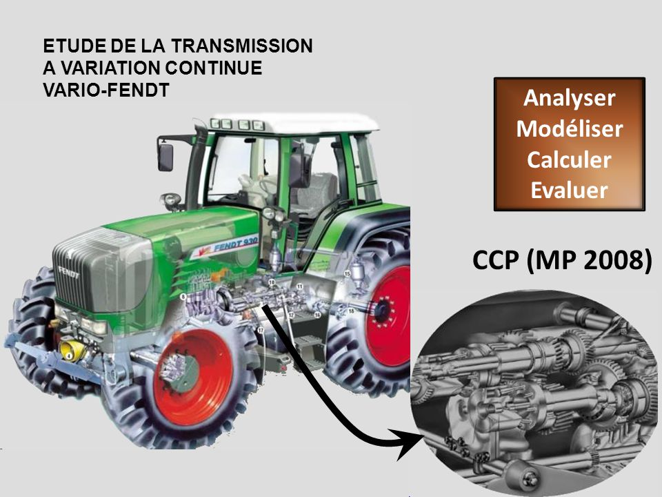 CCP (MP 2008) Analyser Modéliser Calculer Evaluer